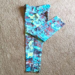 Brazil Wear Print Cropped Yoga Pants/Leggings Sz S